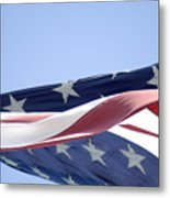 Red White And Blue - American Flag Metal Print