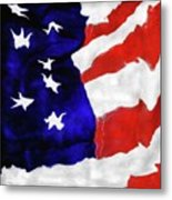 Red White Blue II Metal Print