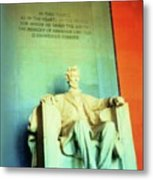 Red White Blue Lincoln Metal Print