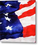 Red White Blue Metal Print