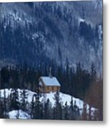 Redcloud Chapel In Blue Metal Print