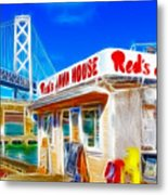 Red's Java House Electrified Metal Print
