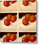 Redundant Apples Metal Print