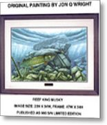 Reef King Musky Metal Print