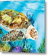 Reef Surfin Metal Print