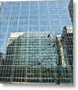 Reflected Buildings Metal Print