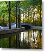 Reflecting Pool Roosevelt Park Metal Print