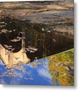 Reflection Of Montgomery Covered Bridge Metal Print