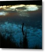 Reflection Of The Sky In A Pond Metal Print