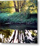 Reflections At Wyeth Metal Print