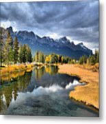 Reflections In Canmore Metal Print
