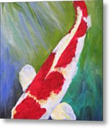 Reflections Koi Metal Print