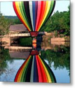 Reflections Of A Balloonist Metal Print