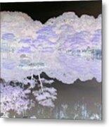 Reflections On A Surreal Pond Metal Print