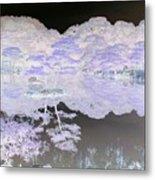 Reflections On A Surreal Pond Metal Print
