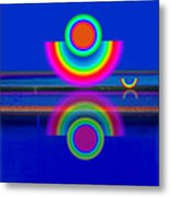 Reflections On Blue Metal Print