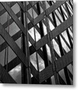 Reflective Glass And Metal Building Metal Print