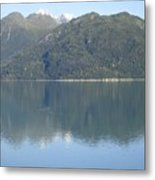 Reflective Moment In Glacier Bay Metal Print