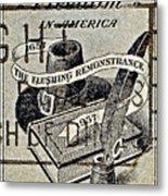 Religious Freedom In America - Persevering Metal Print