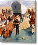 Remington: The Emigrants Metal Print by Granger