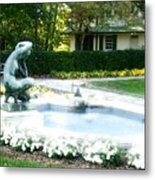 Reynolda Fountain Metal Print