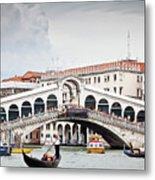 Rialto Bridge Metal Print