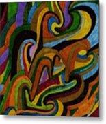 Ribbons Of Color Metal Print