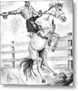 Riding A Flying Horse Metal Print