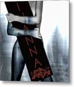 Rihanna Love Card By Gbs Metal Print