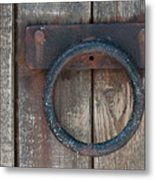 Ring Knock Metal Print