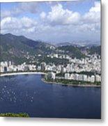 Rio De Janiero Aerial Metal Print