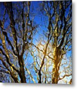 Ripple Tree Metal Print