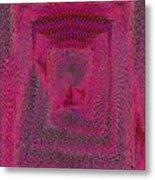 Ripples In Red Metal Print