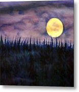 Rising Moon Of Alaska Metal Print