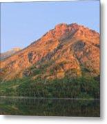 Rising Wolf Mountain At Dawn Metal Print