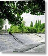 River Derwent Weir - Derby Metal Print
