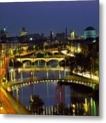 River Liffey Bridges, Dublin, Ireland Metal Print