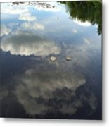 River Reflection Of Clouds Metal Print
