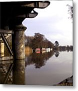River Thames At Sandford. Metal Print by Mike Lester