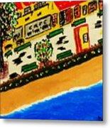 Riviera Beach Cafe Metal Print