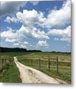 Road From The Farm Metal Print