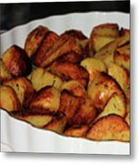 Roasted Potatoes Metal Print