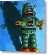 Robot Dream - Realism Still Life Painting Metal Print by Linda Apple