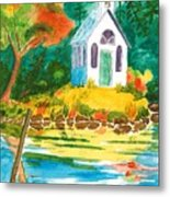 Roche Harbor Chapel Metal Print