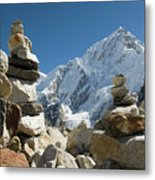Rock Piles In The Himalayas Metal Print