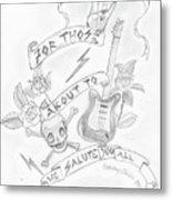 Rock Salute Metal Print