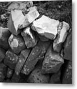 Rock Wall Doolin Ireland Metal Print