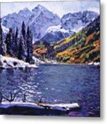 Rocky Mountain Serenity Metal Print by David Lloyd Glover
