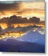 Rocky Mountain Springtime Sunset 3 Metal Print