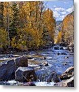 Rocky Mountain Water 8 X 10 Metal Print